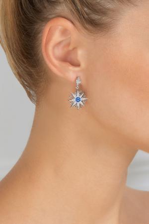 Серьги с кристаллами Lisa Smith. Цвет: серебряный