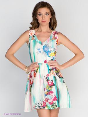 Платье TOPSANDTOPS. Цвет: бирюзовый, фуксия, синий