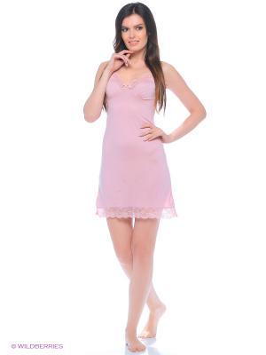 Ночная сорочка ASOLINDA. Цвет: розовый