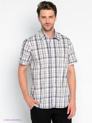 Рубашка Maestro. Цвет: белый, бежевый, серый