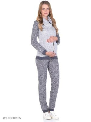 Костюм для беременных FEST. Цвет: серый, белый