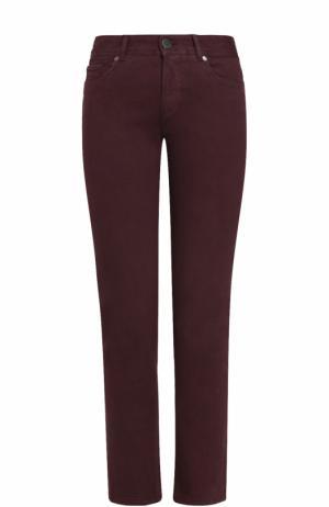 Однотонные джинсы прямого кроя Loro Piana. Цвет: фиолетовый