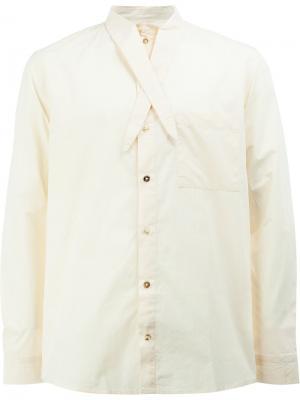 Рубашка с завязками на воротнике By Walid. Цвет: телесный