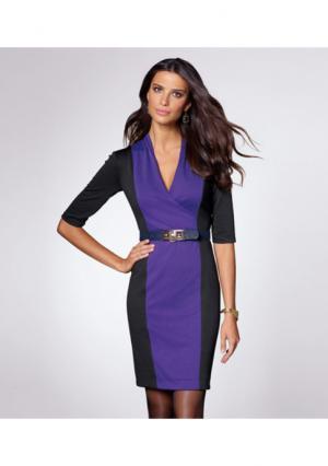 Платье Venca. Цвет: черный/лиловый