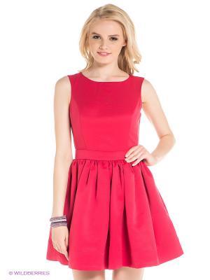 Платье Befree. Цвет: малиновый