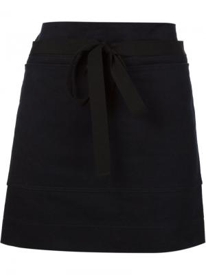 Мини-юбка А-силуэта Atlantique Ascoli. Цвет: синий