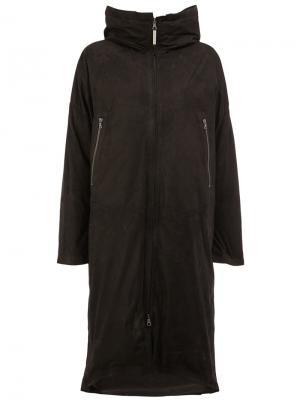 Zipped hooded coat Isaac Sellam Experience. Цвет: чёрный