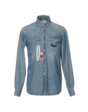 Джинсовая рубашка DEPARTMENT 5. Цвет: синий
