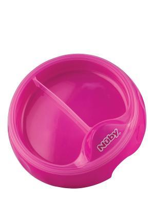 Тарелочка двухсекционная NUBY. Цвет: розовый