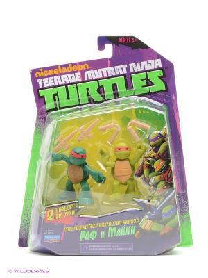 Фигурка Черепашки-ниндзя Майки и Раф юные мутанты Playmates toys. Цвет: зеленый, коричневый