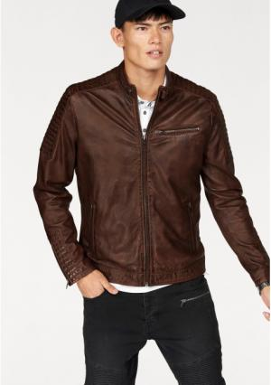Кожаная куртка BRUNO BANANI. Цвет: коричневый