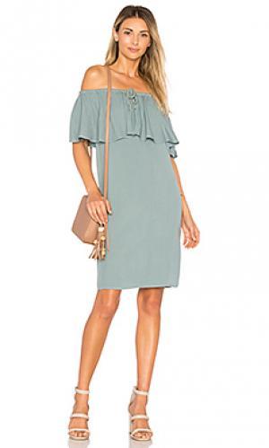 Платье bella LA Made. Цвет: аспидно-серый