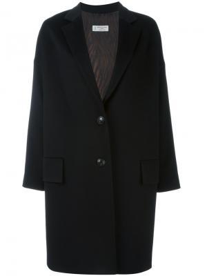Однобортное пальто Alberto Biani. Цвет: чёрный