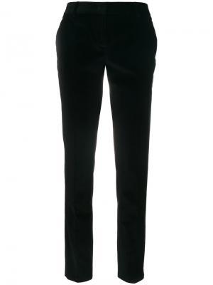 Классические бархатные брюки Tonello. Цвет: чёрный