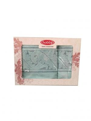 Махровое полотенце в коробке 50x90+70x140 SULTAN минт,100% хлопок HOBBY HOME COLLECTION. Цвет: светло-зеленый