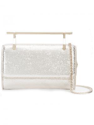Mini chain shoulder bag M2malletier. Цвет: металлический