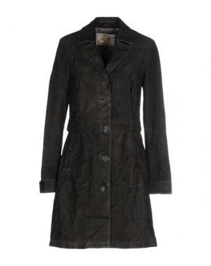Легкое пальто VINTAGE DE LUXE. Цвет: стальной серый