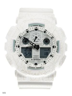 Часы G-Shock GA-100CG-7A CASIO. Цвет: белый