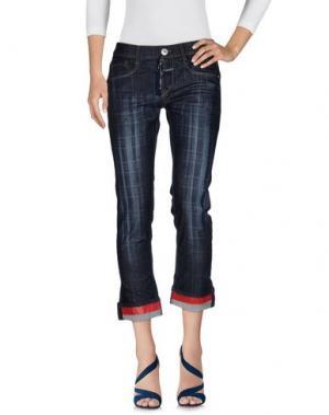 Джинсовые брюки LE JEAN DE MARITHÉ + FRANÇOIS GIRBAUD. Цвет: синий