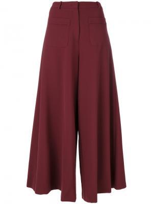 Широкие брюки клеш Vivetta. Цвет: красный
