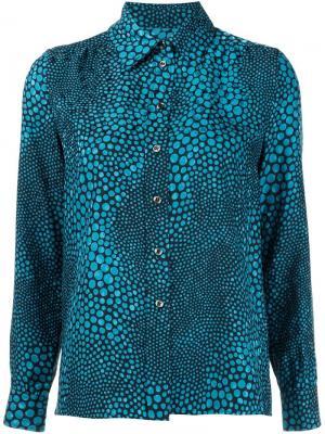 Рубашка с пятнистым принтом Vanessa Seward. Цвет: синий