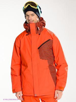 Куртка BETWEEN JACKET Volcom. Цвет: оранжевый, черный