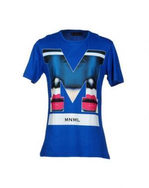 Футболка MNML COUTURE. Цвет: синий