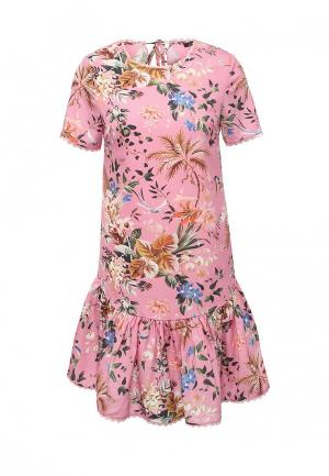 Платье Lusio. Цвет: розовый
