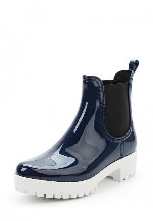 Резиновые ботинки Mon Ami. Цвет: синий