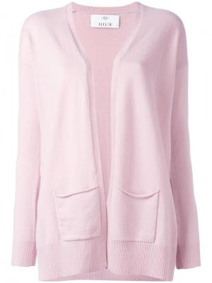 Кардиган с карманами Allude. Цвет: розовый и фиолетовый