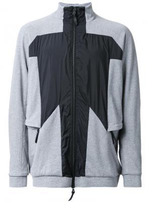Куртка с панельным дизайном 11 By Boris Bidjan Saberi. Цвет: серый