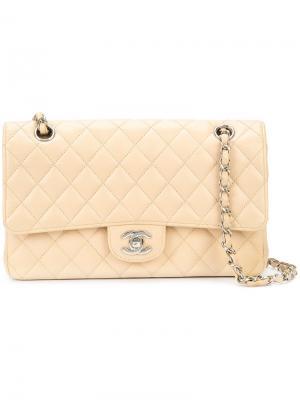 Medium Double Flap bag Chanel Vintage. Цвет: телесный