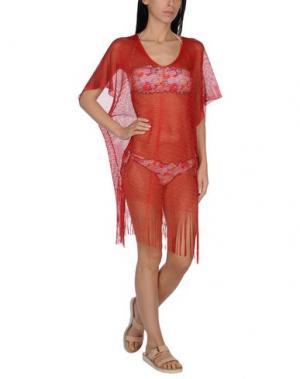 Пляжное платье FISICO. Цвет: красный