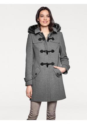 Пальто ASHLEY BROOKE by Heine. Цвет: серый меланжевый