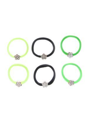 Резинка(6 шт) Bizon. Цвет: черный,зеленый,желтый
