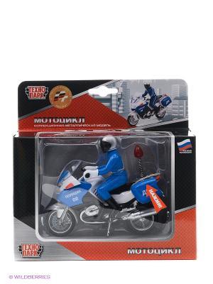 Мотоцикл Технопарк. Цвет: голубой, серый
