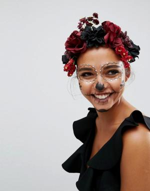 ASOS Венок на голову с цветами Halloween. Цвет: мульти