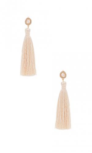 Tassel slice earring Melanie Auld. Цвет: металлический золотой