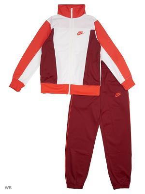 Спортивный костюм B NSW TRK SUIT PAC POLY Nike. Цвет: белый, красный