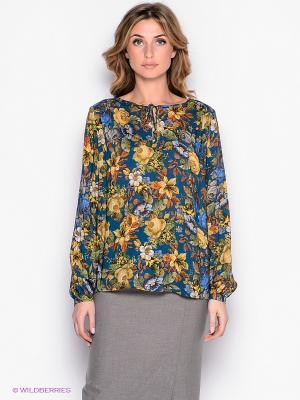 Блузка Yulia Dushina. Цвет: синий, желтый
