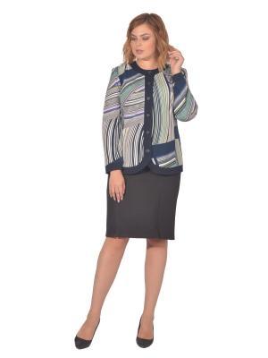 Жакет Томилочка Мода ТМ. Цвет: темно-синий, белый, светло-зеленый
