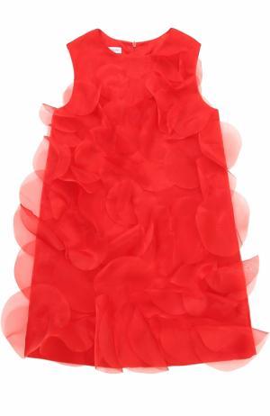 Мини-платье А-силуэта с декоративной отделкой I Pinco Pallino. Цвет: красный