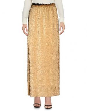 Длинная юбка PAOLO CASALINI. Цвет: платиновый