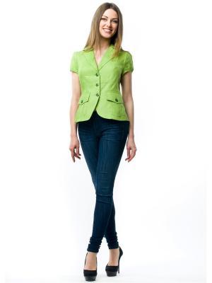 Жакет L-design. Цвет: зеленый