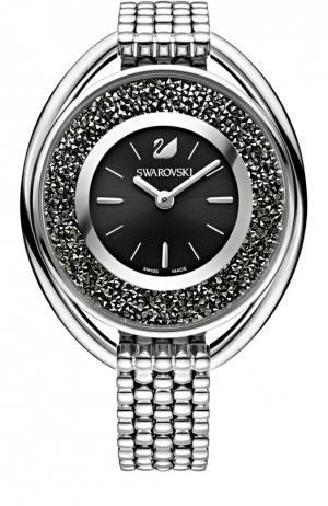 Наручные часы Crystalline Oval Swarovski. Цвет: черный
