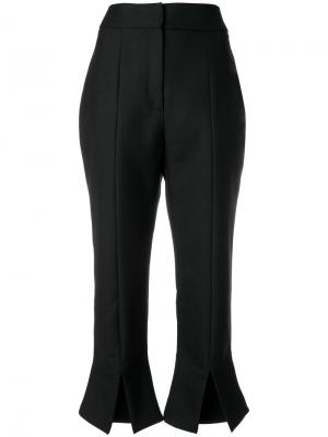 Укороченные брюки с разрезами Jacquemus. Цвет: чёрный