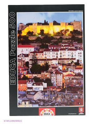 Пазл Замок Святого Георга, Лиссабон, 500 деталей Educa. Цвет: черный