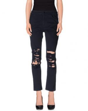 Повседневные брюки ARIES. Цвет: темно-синий