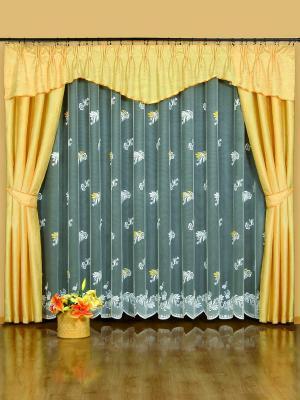 Комплект штор Wisan. Цвет: желтый, белый