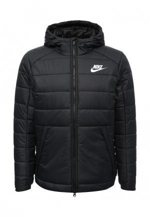 Куртка утепленная Nike. Цвет: черный